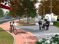 На улице Парковая вЩелково создается новое пешеходное пространство - Щелково.ru