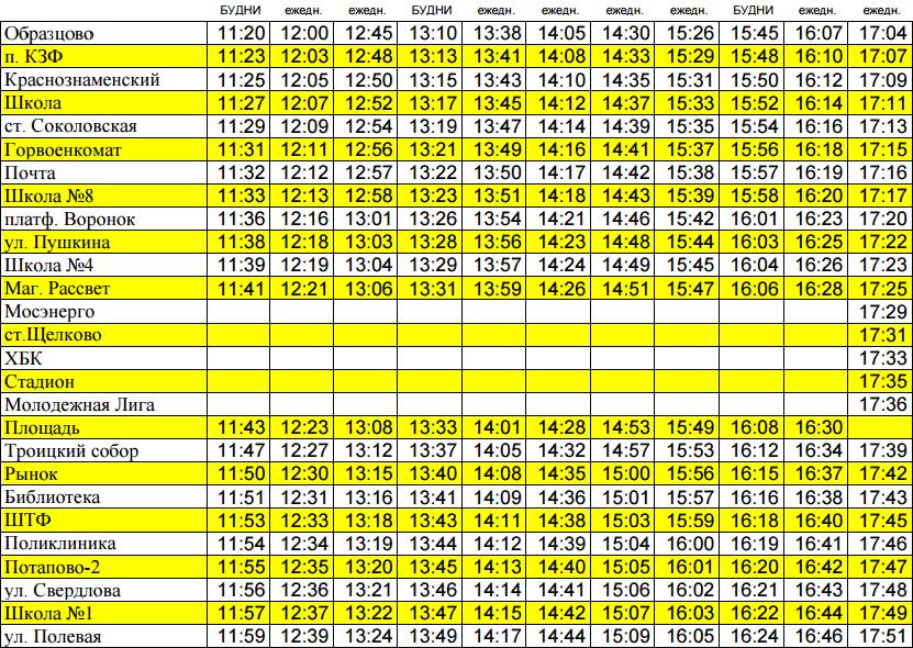 2 автобус Щелково. Расписание 2 автобуса Щелково (Образцово - ул. Полевая)