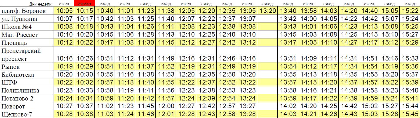 Автобус № 7 Щелково. Расписание 7 автобуса Щелково (Воронок-Щелково-7)