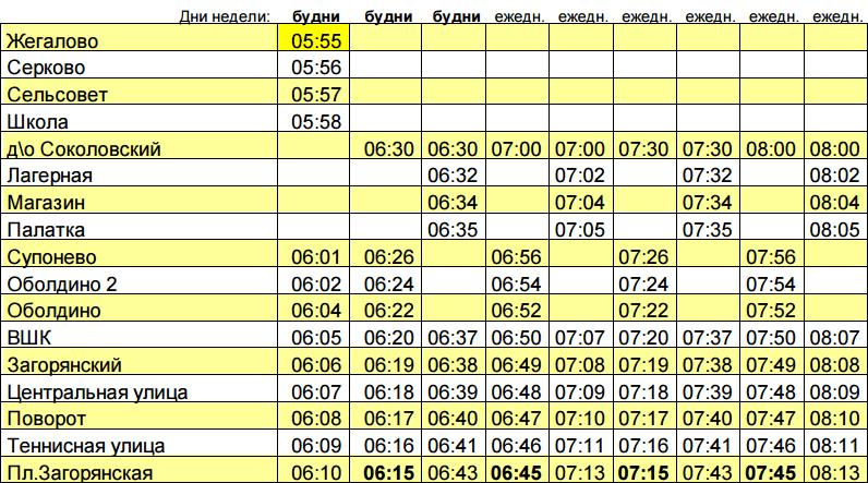 расписание 24 и 36 автобуса в щёлково